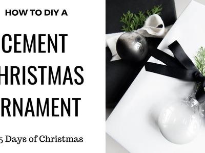 DIY Cement Ornaments + RENOVATION SNEAK PEEK!  |  | Day TWENTY THREE | 25 Days of Christmas