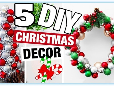 DIY Christmas Decor! 5 Easy Crafts Ideas at Christmas & Winter Ideas for Teenagers 2019