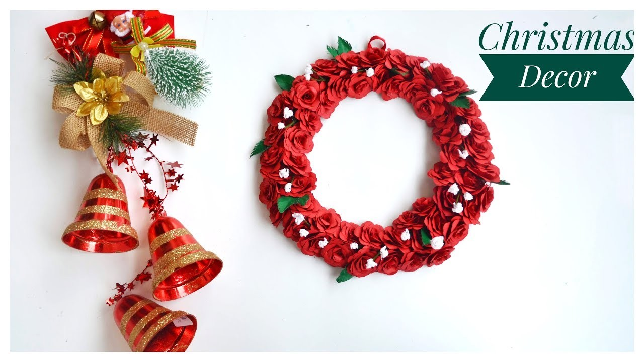 DIY Christmas Decor   Christmas Wreath  Wall Decor