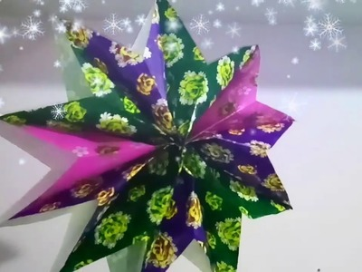 DIY Christmas decorations.GIANT  PAPER STAR.PAPER DECOR.PAPER HANGINGS