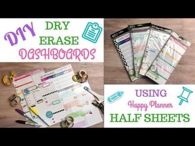 DIY   Dry Erase Dashboards   Happy Planner Half Sheets