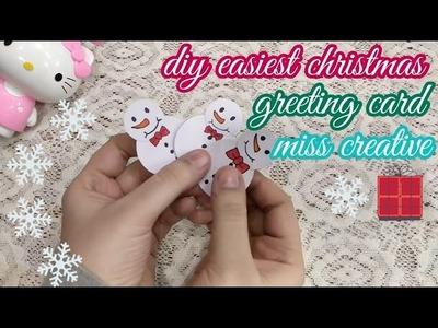 Diy easy christmas greeting card for kids.????how to make greetings for christmas 2018 for school kids