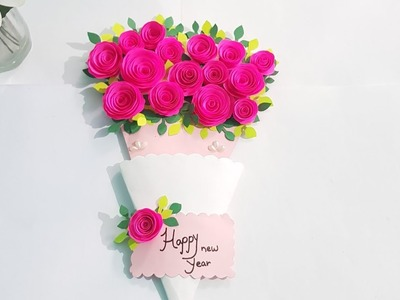 DIY: Easy handmade Greetings card (for new year) |Rose Crafts T.v| |Rose Difusa|