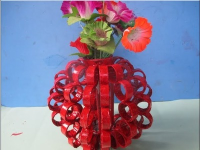 DIY Flower Vase Out Of Waste Newspaper|| Best Out Of Waste Ideas || Crafts Talent.