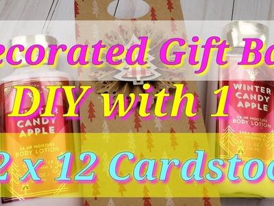 DIY Gift Bag using 1 12x12 Cardstock!