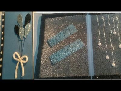 DIY Handmade Birthday Card #PaperCraft Beautiful Birthday Greeting Card Idea