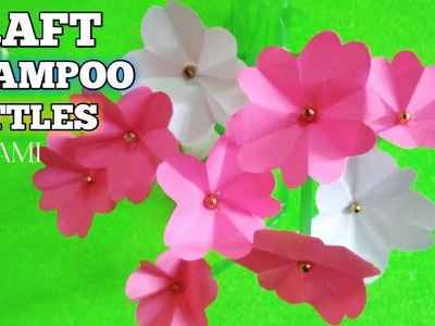 DIY how to process used goods into decorations - beautiful flowers | best out of waste craft ideas