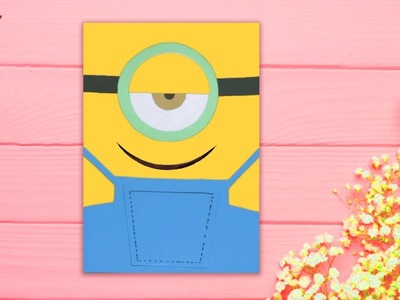 DIY Minion Card || Minion Crafts for Kids || Minion Card Ideas for Kids