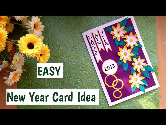 DIY New Year Greeting Card 2019| Handmade 3D New Year Card Making Tutorial #Newyearcard #handmade