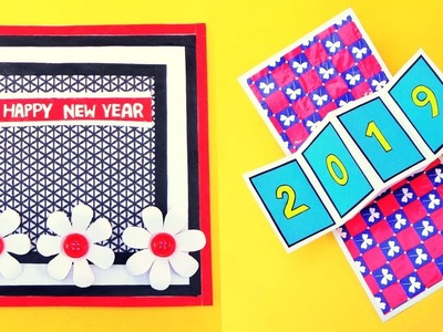 DIY New Year Pop Up Greeting Card.How to make Greeting Card for New Year 2019 at Home