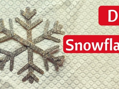 DIY Popsicle Stick Snowflake For Christmas