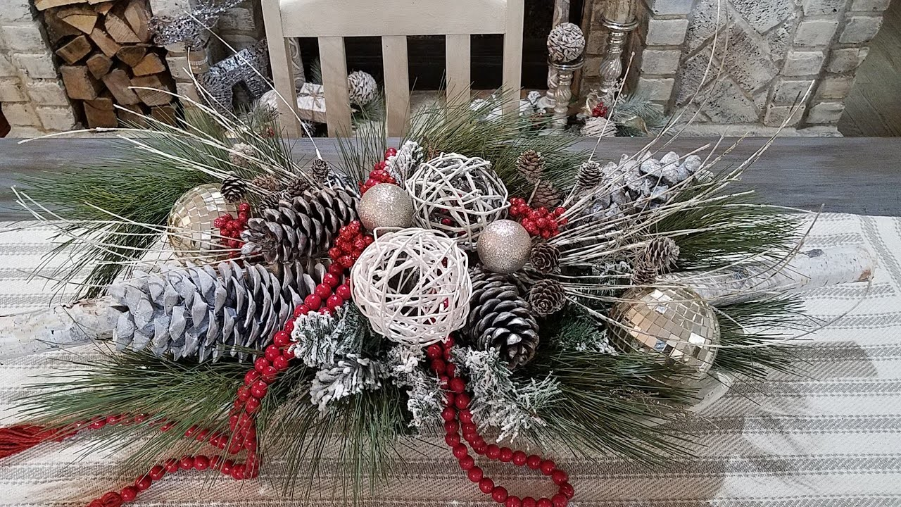 Diy rustic glam christmas centerpiece plus giveaway