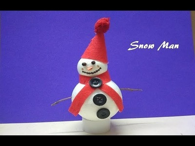 DIY Snowman.Snowman Making form Thermocol Ball.Snowman Making Idea for Kids.Snowman Craft for Kids