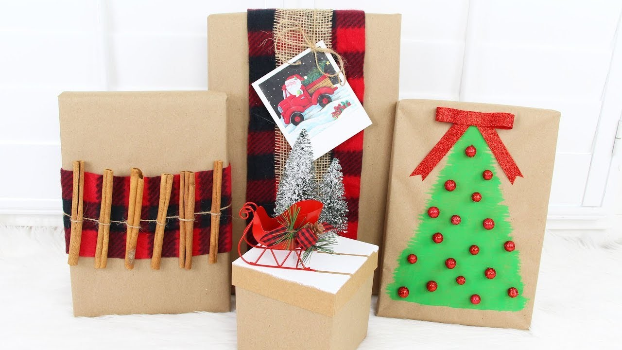 DOLLAR TREE DIY CHRISTMAS GIFT WRAPPING IDEAS
