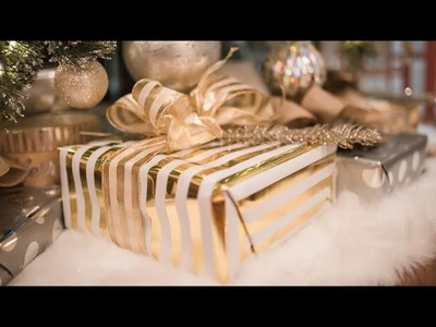 EASY DIY GIFT WRAPPING IDEAS + HOW TO MAKE A BOW