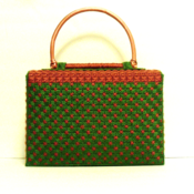 Exotic Copper and Emerald Green Handbag Set