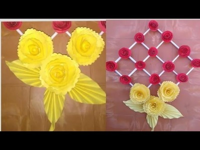 HACK EVERY GIRL SHOULD KNOW DIY Wall Hanging Out Of Wool  Wool Flower Making. Home Decoration Idea