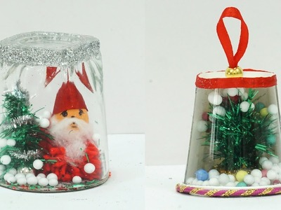 Handmade DIY Christmas Home Decoration Ideas | Make Best Out of Waste Christmas Snow Globe