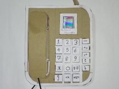 How to make a Telephone from cardboard. DIY Telephone