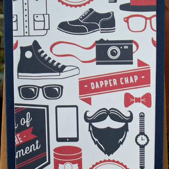 Navy Men's Birthday Card