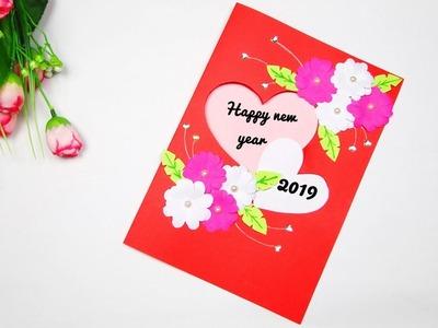 New year greeting card | DIY greeting card | Handmade greeting card for new year