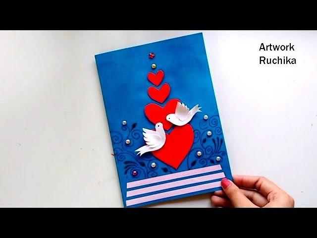 New Year Greeting Card | Handmade Popup Card | Love Bird Card DIY
