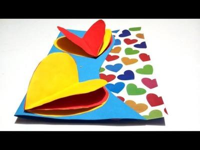 New Year greeting card ideas for boyfriend|Handmade greeting card making|DIY Valentine card tutorial