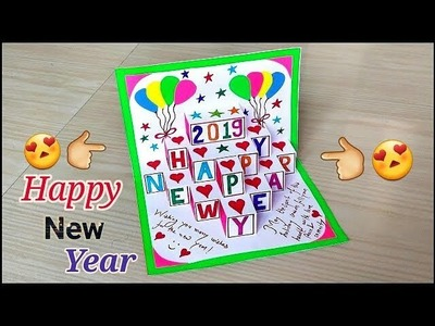 New year pop up greeting cards. diy new year pop up cards. handmade pop up card for new year