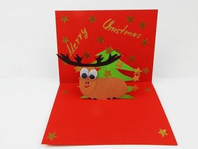 Pop up Christmas card DIY Xmas card Weihnachten Karte