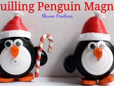 Quilling Penguin Fridge Magnet. How to make Quilling Fridge Magnet. DIY Fridge Magnet