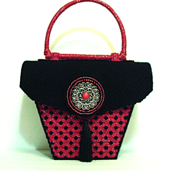 Red and Black Purse