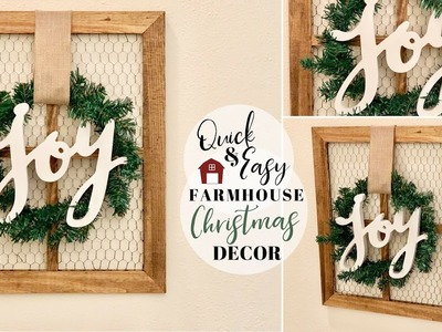 The Easiest DIY You Will Ever Do | Farmhouse Christmas Decor | Budget Friendly | Ashleigh Lauren