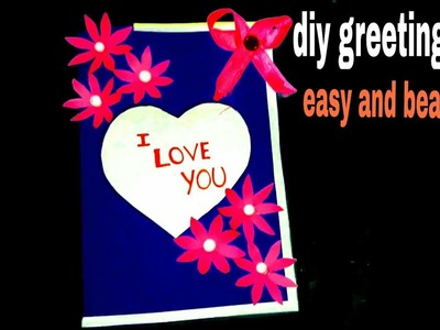 Valentine's day card handmade | handmade valentine cards | cards | diy card | valentine day card