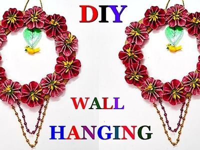 Wall Hanging with glitter foam sheet at home| DIY-Wall.room Decoration idea