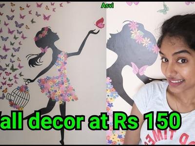 Amazon wall sitcker review DIY wall decor DIY room decor at rs 150 DIY Room decor Asvi be creative