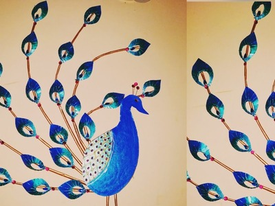 Beautiful Peacock Wall Decor. Using Cardboard n Paper. Peacock  Wall Hanging. S V Craft Zone