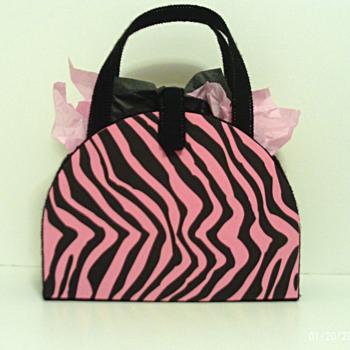 Black and Pink Zebra Handbag