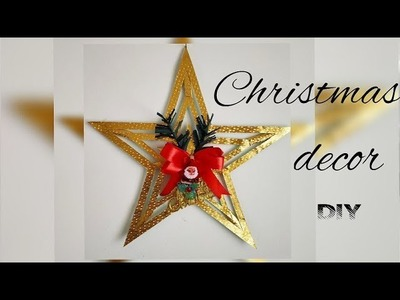 Christmas Star DIY || Decorative star making || Christmas and New year decoration|| Art & Essentials