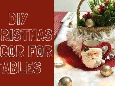 DIY AFFORDABLE & QUICK CHRISTMAS DECOR IDEAS FOR TABLES   #jinglealltheweek #diychristmasdecor