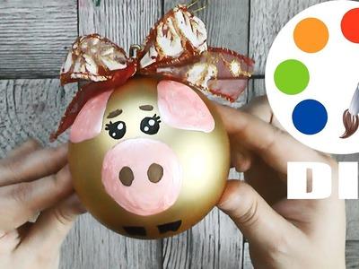 """DIY, Christmas ball """"Piggy"""",❄Christmas decoration idea❄"""