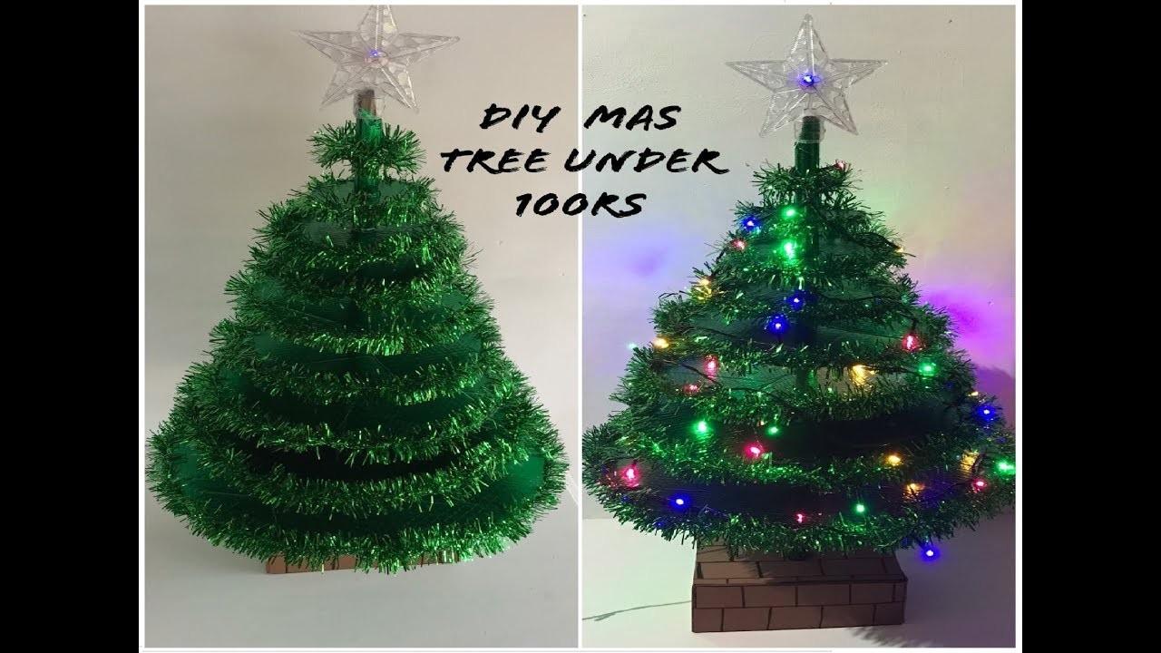 DIY CHRISTMAS TREE USING CARDBOARD
