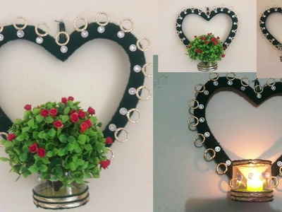 DIY How to make wall hanging & candle stand