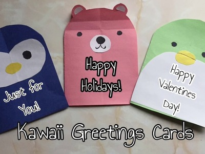 DIY Kawaii Greetings Cards For Kids | PART 1New Years Card Idea