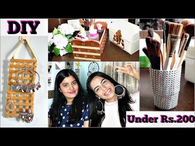 DIY Room Decor. Organization and Storage ( Under Rs.200 ) ft. RiyaBeauty