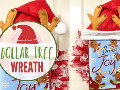 DOLLAR TREE CHRISTMAS DIY | ????DOLLAR TREE  WREATH | EASY CHRISTMAS CRAFTS