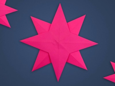 Easy Six Pointed Hanging Paper Star for Christmas Tree Decoration