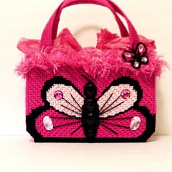 Pink Butterfly Handbag