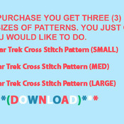 Star Trek Cross Stitch Pattern***LOOK***  ***INSTANT DOWNLOAD***