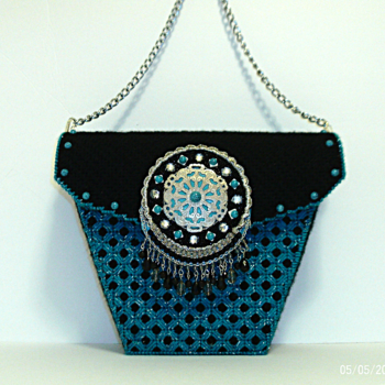 Turquoise and Black Purse
