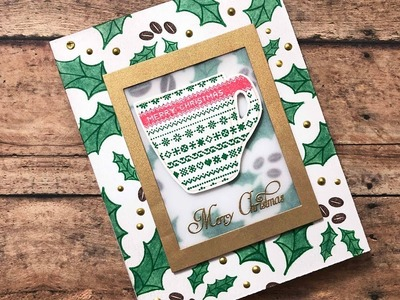 A Coffee Christmas Card with Joy Clair Stamps